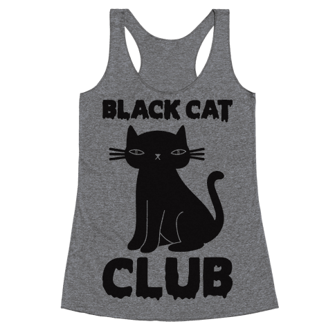Black Cat Club Racerback Tank Top
