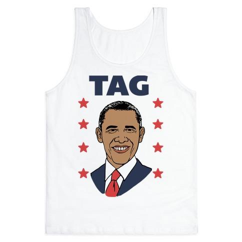 Tag Team Barack & Michelle Obama 1 Tank Top