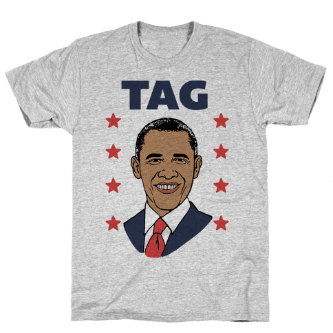 Tag Team Barack & Michelle Obama 1 Mens T-Shirt