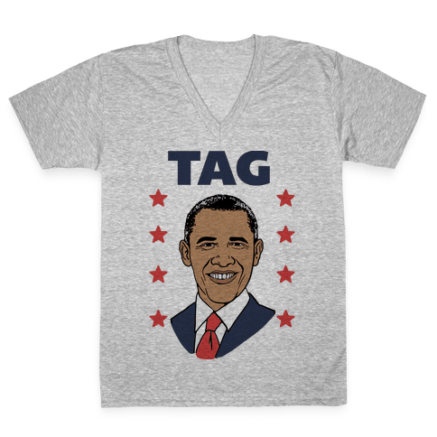Tag Team Barack & Michelle Obama 1 V-Neck Tee Shirt