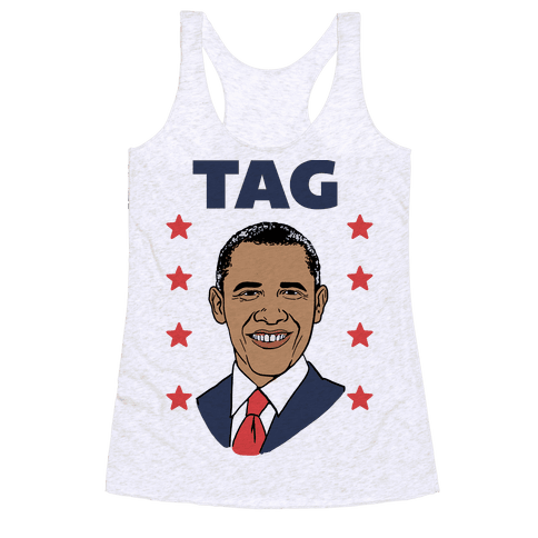 Tag Team Barack & Michelle Obama 1 Racerback Tank Top