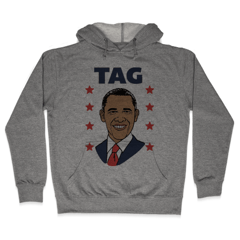 Tag Team Barack & Michelle Obama 1 Hooded Sweatshirt