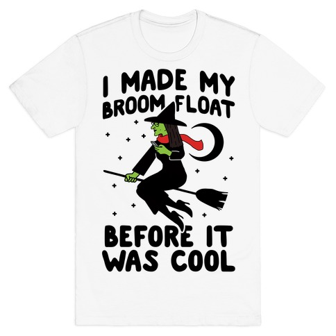Broom Challenge Hipster Witch T-Shirt