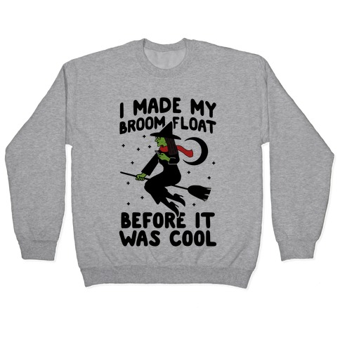 Broom Challenge Hipster Witch Pullover
