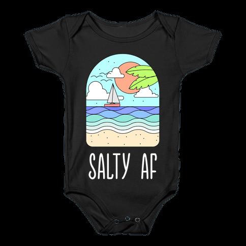 Salty AF Baby Onesy