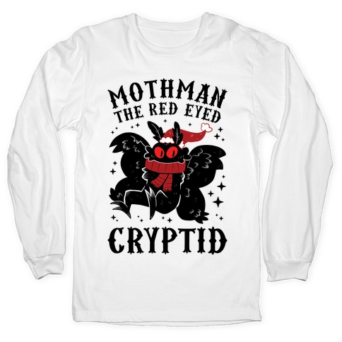 Mothman The Red Eyed Cryptid Long Sleeve T-Shirt