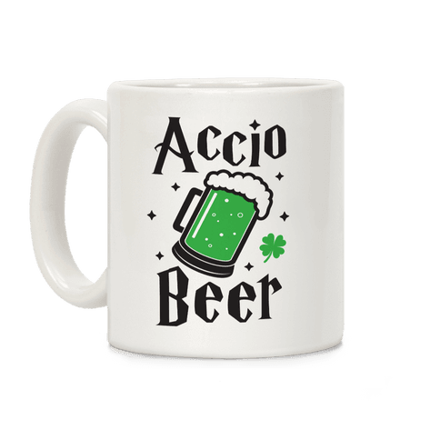 Accio Beer St. Patrick's Day Coffee Mug
