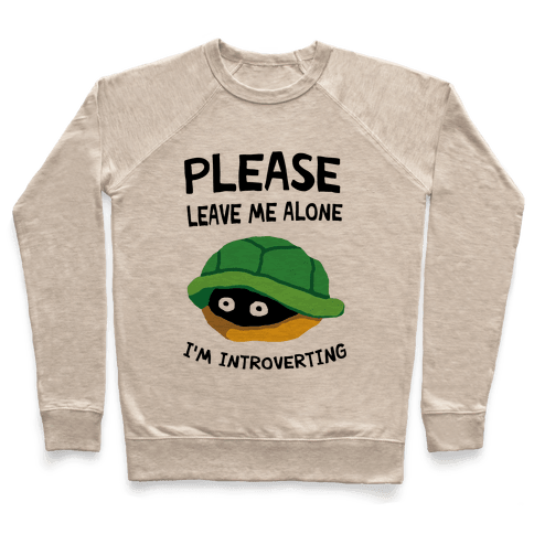 Please Leave Me Alone I'm Introverting Turtle Pullover