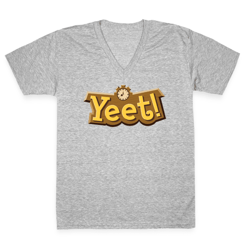 Yeet! Animal Crossing Parody V-Neck Tee Shirt