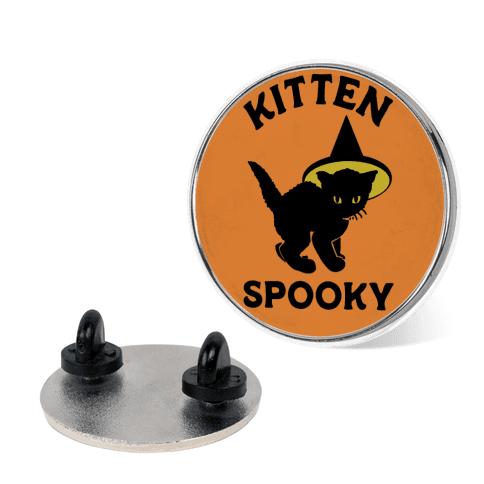 Kitten Spooky pin