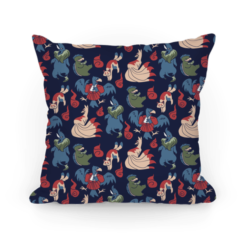 Yokai Guys Pattern  Pillow