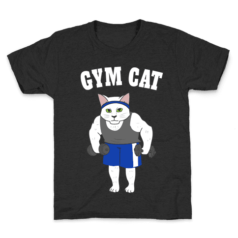 Gym Cat Kids T-Shirt