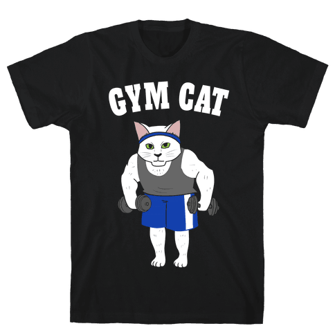 Gym Cat Mens T-Shirt