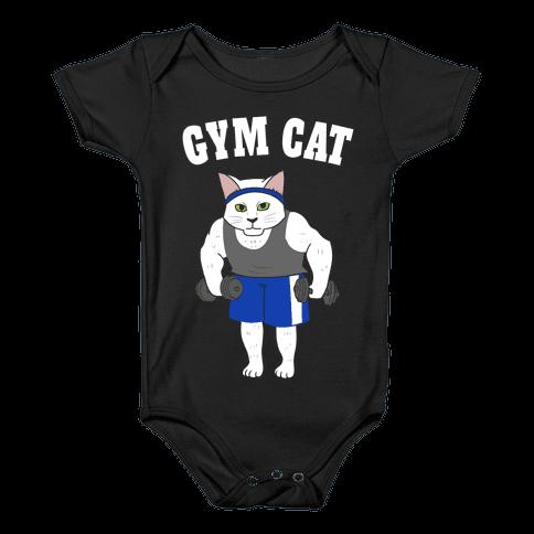 Gym Cat Baby Onesy