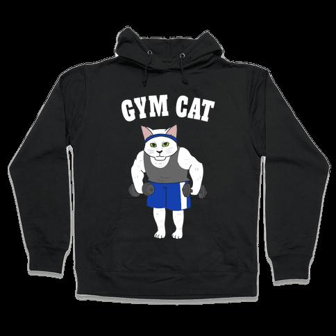 Gym Cat Hooded Sweatshirt