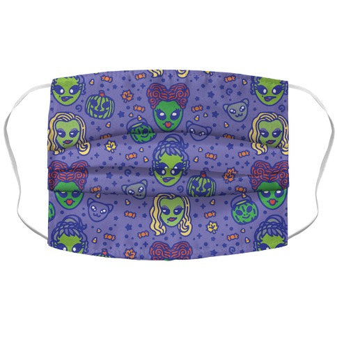 Witch Alien Sisters Parody Accordion Face Mask
