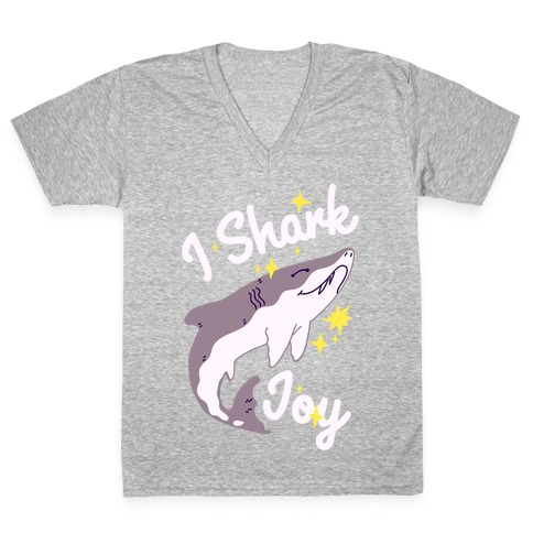 I Shark Joy V-Neck Tee Shirt