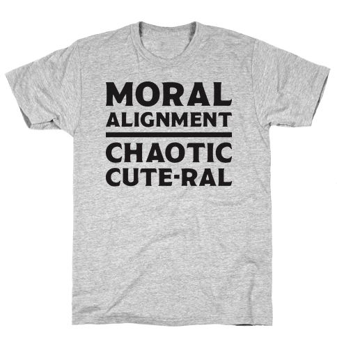 Moral Alignment Chaotic Cute-ral Mens T-Shirt