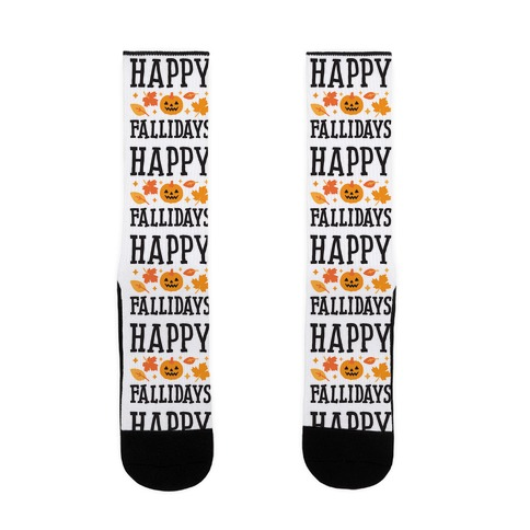 Happy Fallidays Sock