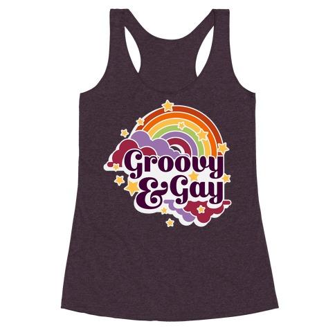Groovy & Gay Racerback Tank Top