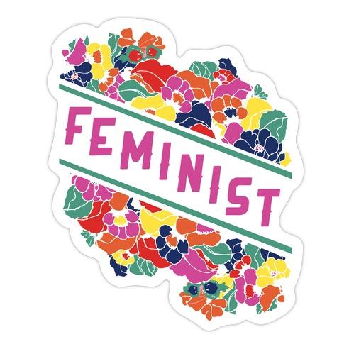 Feminist Floral Die Cut Sticker