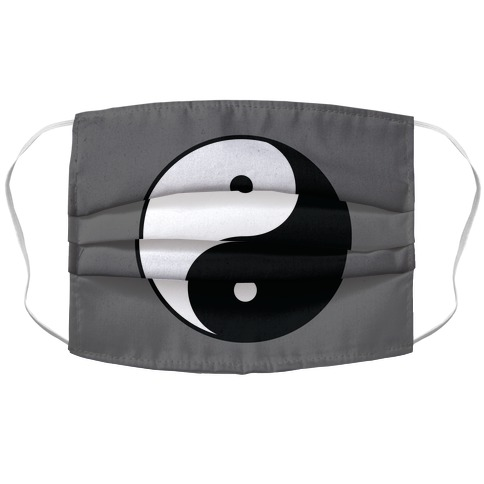 Yin Yang Gray Accordion Face Mask