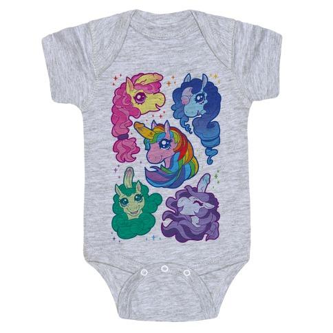 Unicorn Penis Pattern Baby Onesy