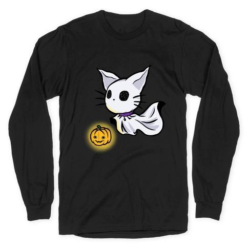 Ghost Cat Long Sleeve T-Shirt