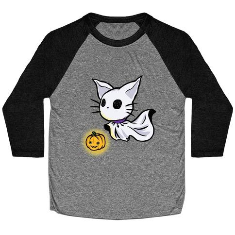 Ghost Cat Baseball Tee