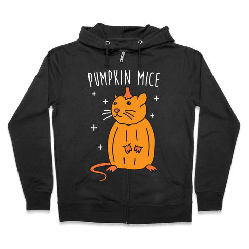 Pumpkin Mice Zip Hoodie