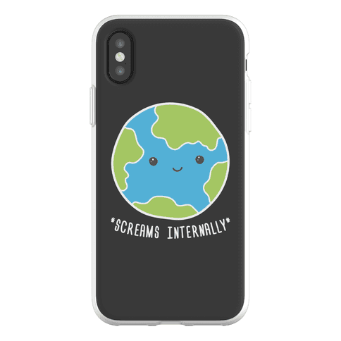 Earth Screams Internally Phone Flexi-Case