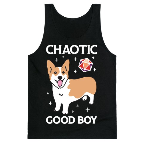 Chaotic Good Boy Corgi Tank Top