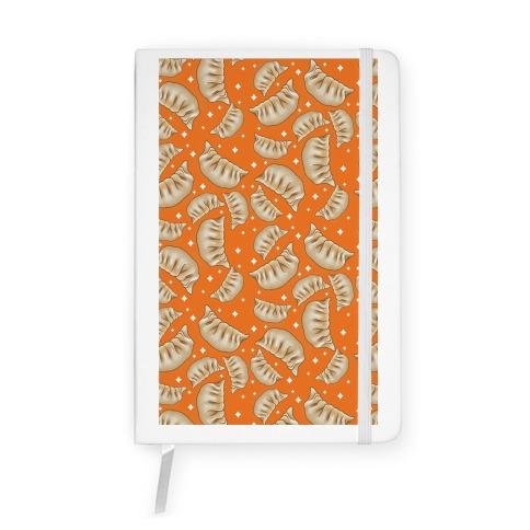 Dumplings Pattern Orange Notebook