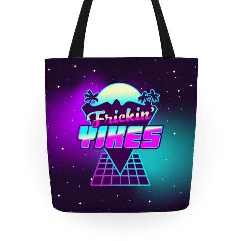 Frickin' YIKES Retro Wave Tote