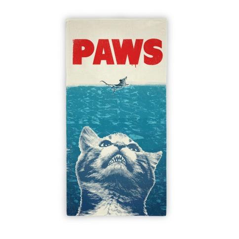 PAWS (Jaws Parody Beach Towel) Beach Towel