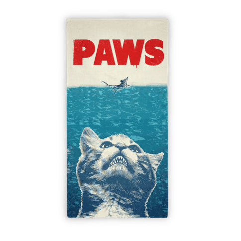 PAWS (Jaws Parody Beach Towel) Beach Towel