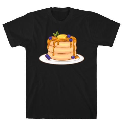 Stack Of Blueberry Pancakes Mens/Unisex T-Shirt