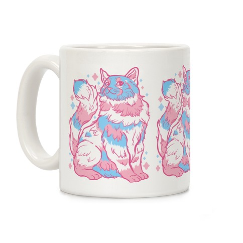 Transgender Pride Cat Coffee Mug