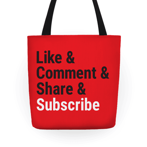 Like Comment Share Subscribe Tote