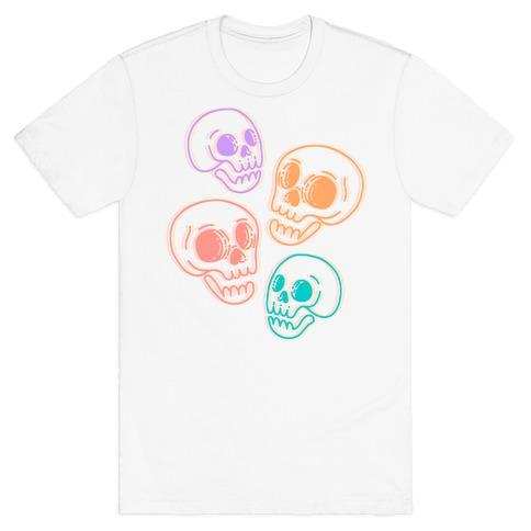 Pastel Skulls Glitch T-Shirt