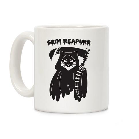 Grim Reapurr Cat Coffee Mug