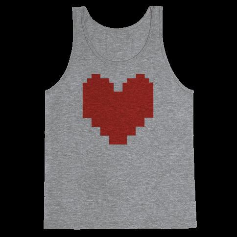 Undertale Pixel Heart Tank Top