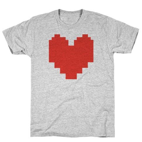 Undertale Pixel Heart T-Shirt