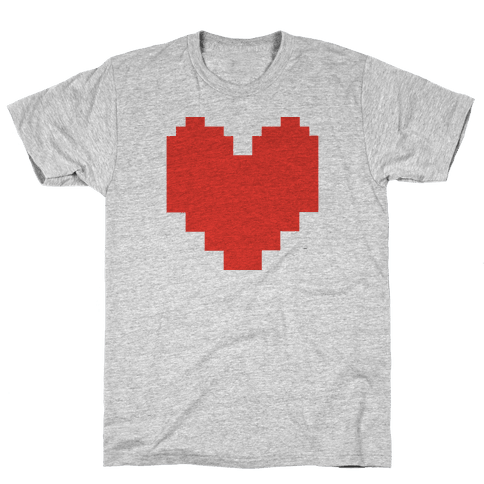 Undertale Pixel Heart Mens T-Shirt