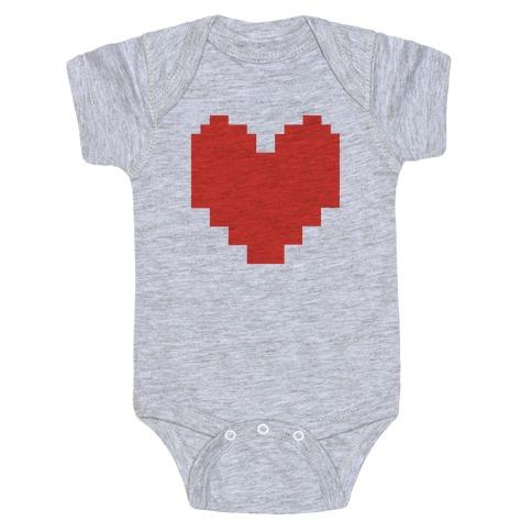 Undertale Pixel Heart Baby Onesy