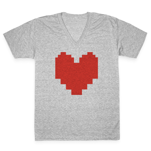 Undertale Pixel Heart V-Neck Tee Shirt