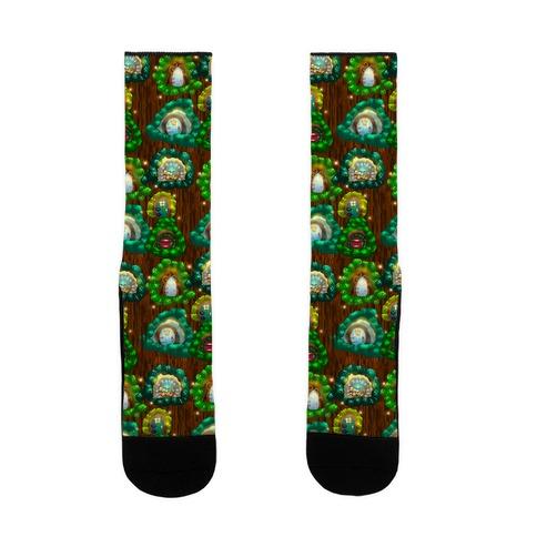 Fairy Cottage Doors Pattern Sock