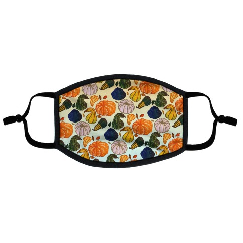 Autumn Gourds Pattern Flat Face Mask