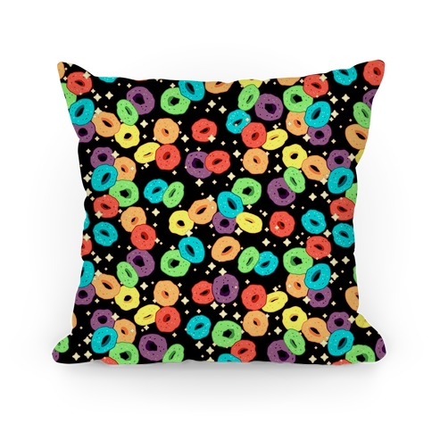 Spacey Fruity Cereal Pillow