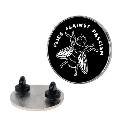 Flies Against Fascism Pin